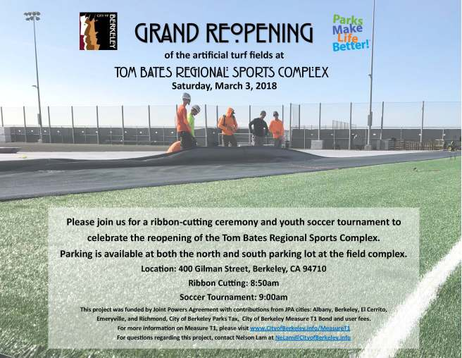 Gilman Turf Grand Reopening / Sat March 3rd
